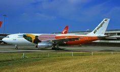 panorama: AIRBUS A 300  Air Niugini  da Nova Guinne. O ...