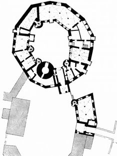 PLAN OF THE CASTLE OF BUDINGEN IN GERMANY