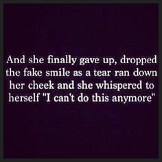 Sometimes it's okay to give up, even if it means giving up on people.