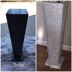 23 Clever DIY Christmas Decoration Ideas By Crafty Panda Bling Party, Bling Wedding, Bling Bling, Glitter Furniture, Mirrored Furniture, Diy Home Crafts, Diy Home Decor, Furniture Makeover, Diy Furniture
