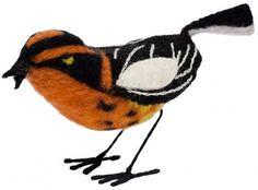 Charley Harper Store | Blackburnian Warbler - Felt Bird - 3-D Figurines - Birds - Merchandise | Largest Dealer in the World