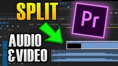 HOW TO SEPERATE VIDEO AND AUDIO IN PREMIERE PRO 1080p, Audio In, Retro, Tech, Technology, Neo Traditional, Rustic, Retro Illustration, Mid Century