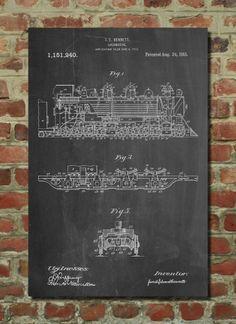 Locomotive Bennett Poster Locomotive Bennett Patent Locomotive Bennett Print Locomotive Bennett Art Locomotive Bennett Decor