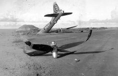 IWO JIMA B-29 in a BAD LANDING