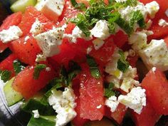 Watermelon Salad Recipe With Cucumbers, Mint and Feta Cheese|Organic Authority.com
