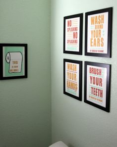 Cute bathroom signs home made lovely- lindsey's home tour » Life Made Lovely