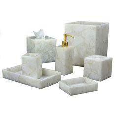 Mike & Ally White Quartz Tissue Box Cover ($800) ❤ liked on Polyvore featuring home, bed & bath, bath, bath accessories, milk white, white tissue box holder, white tissue box, white bath accessories and white bathroom accessories
