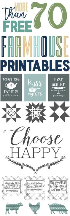 The Ultimate Set of Free Farmhouse Printables over 70+ Printables farmhouse inspired-www.themountainviewcottage.net