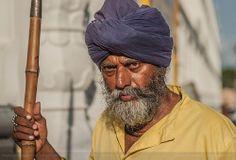 A guard outside Sachkhand Shri Hazur Sahib