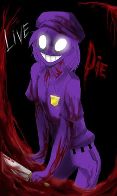 Five nights at Freddy's fanart: The Purple Guy and Withered Bonnie. It doesn't as good as it was as a lineart But anyway, the purple filter makes it look better, so does the blurring. I had to fini...