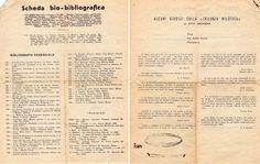 1952 Scheda bio- bibliografica Ivo Senesi