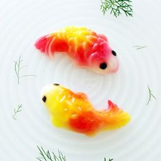 Koi Fish Jelly with brighter colour represents wealth and prosperity.  年年有余 nian nian you yu ~The word 'fish' 鱼or 'yu'  余  means literally every year having surpluses and it is a must have dish (steamed fish) for new year dinner.