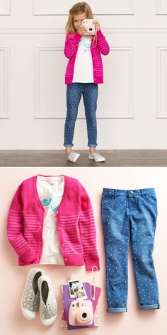 Say cheese! School pictures are cuter with SONOMA Goods for Life. Featured product includes: SONOMA Goods for Life glitter T-shirt, striped pink cardigan, heart-print jeggings and slip-on sneakers. Get set for back to school at Kohl's.
