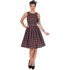 Robe Pin-Up Rétro 50's Rockabilly Swing Annie Ecossais