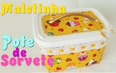DIY ♥ Do LIXO ao LUXO ♥ Reciclando pote de sorvete
