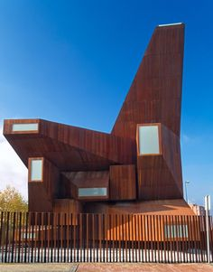 Church of Santa Monica by Vicens and Ramos | pre-rusted steel, often known by the brand name Corten