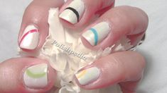 Celebrate the olympics with a set of Olympic Nails!  These nails are really easy to do and so worth it.      We, polishpedia.com, have create a step by step tutorial on how to do these nails on yourself.