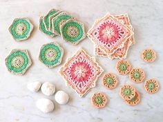 Crochet Designs, Crochet Patterns, In A Nutshell, Free Pattern, Crochet Earrings, Shapes, Blanket, Blog, How To Make