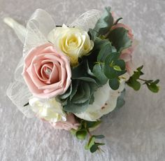 Wedding Bridesmaid posy.Country styled vintage by FleurDeBeese