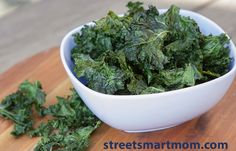 Hello, Smart Moms! I'm so excited for today's post. Why? Kale chips. That's right, ladies. Freaking kale chips. Find out why I'm so obsessed and how you can be too! Head over to streetsmartmom.com
