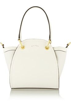 Maiyet Peyton mini leather and canvas shoulder bag | NET-A-PORTER