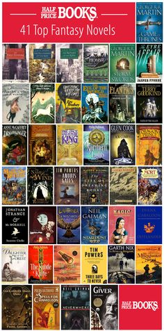 Who's the Bravest of All, Fantasy Edition (Top 41 Fantasy Novels) - Half Price Books Blog - I have only read The Last Unicorn (so sad but beautiful) and The Giver (one of my favorite books!)