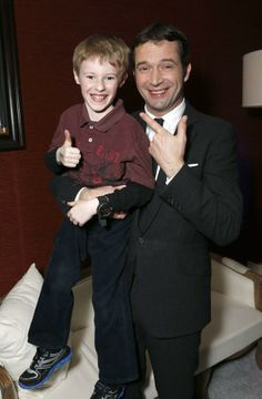 James Purefoy with his on screen son Joey (Kyle Catlett) of The Following