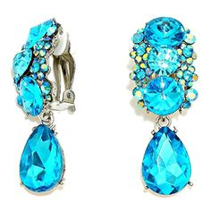 "2"" Aqua Blue Ab Glass Crystal Rhinestone Silver Clip on Earrings Drag Queen Pageant Jewelry Fashion Jewelry http://www.amazon.com/dp/B0178FTVA4/ref=cm_sw_r_pi_dp_TDErwb1W2GY1Q"