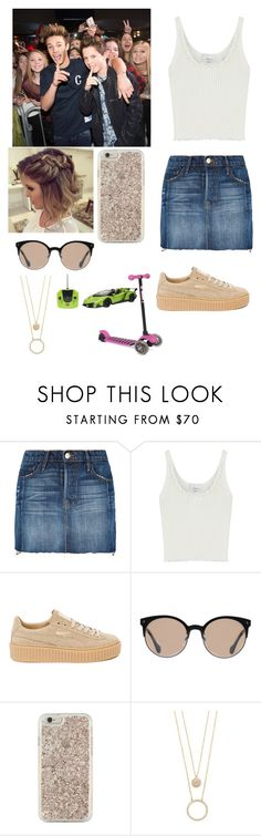 """""""Hanging out with Cameron backstage"""" by joelene-garcia ❤ liked on Polyvore featuring Frame, 3.1 Phillip Lim, Puma, Balenciaga and Kate Spade"""