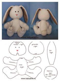 moldes de bichinhos de tecido - Pesquisa Google