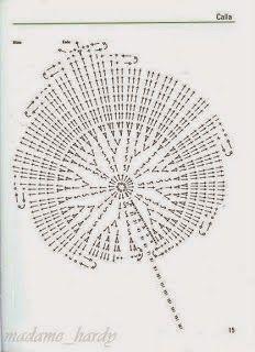 Como fazer lírios de crochê passo a passo com graficos