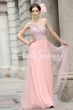 Robe soiree pas cher rose