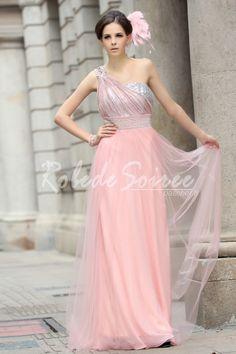 Robe de soiree pas cher rose