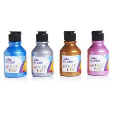 Wilko Metallic Paint Set 4 x 150ml