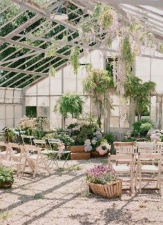 A ceremony in a greenhouse basically guarantees flattering lighting, right?