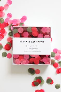The Flair Exchange® - Handcut Confetti - Poppy