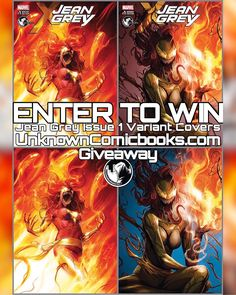 Giveaway Unknowncomicbooks.com and NoMoreMutants are proud to present a new Contest/Giveaway for both Jean Grey Issue 1 variant covers by Francesco Mattina The standard version and the virgin cover too!! Thats 4 comics!! How to win? -You must follow @unknowncomicbooks and @nomoremutants -You must repost this image and tag both accounts.  On 05/03/2017 one random person who has followed these rules will win one copy of each of these exclusives! Only 3000 prints were made for the title…