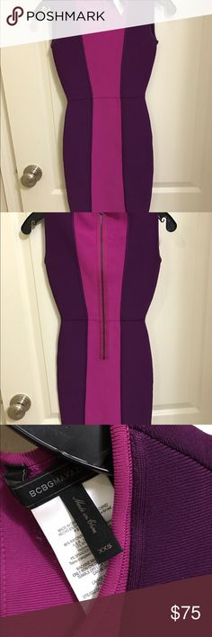BCBG Color Block Bandage Dress BCBG Colorblock Bandage dress. Excellent condition. Worn once! No snags, runs, pulls, tears, or stains! BCBG Dresses