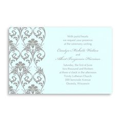 Romantic Vines Wedding Invitations by MyGatsby.com