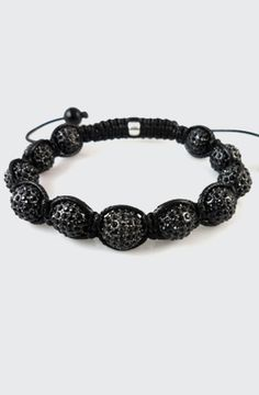 Blacked Out Shamballa Crystal Bracelet by ILLxILL, $65