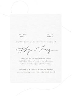 Simple, calligraphy mix | Invitation | Black on white