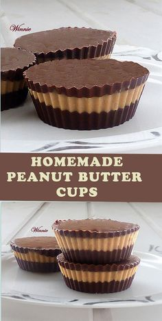 No bake Homemade Peanut-Butter Cups - Gluten free.  Can also be made with Sesame-Butter