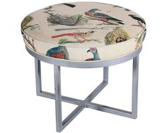 Trend Alert: Birds Ottoman by Design Legacy by Kelly O'Neal; shopjuxtapose.com.