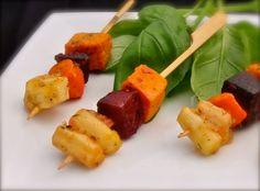Veggie Skewer Appetizers | Roasted Root Vegetable Kabobs| Skewers| Vegetarian…