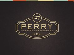 Perry logo by Sarah Mick. Classy.