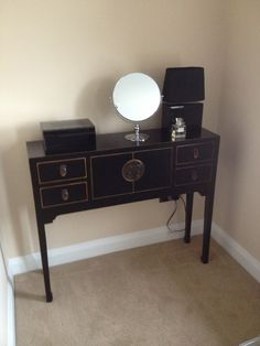 Chinese Style Furniture Black Lacquer Shiny