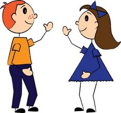 Boy and Girl Clip Art Free | boy_and_girl_or_brother_and_sister_waving_0515-0910-2500-0018_SMU.jpg