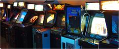 """Insert Coin(s) // A combination of a """"barcade"""" and a dance club. Sounds like the perfect compromise for our group."""