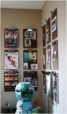 """Still liking the clipboards-for-display idea (from The Fiction We Live) ("""",)"""