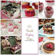 40+ Chocolate Raspberry Recipes - theBitterSideofSweet